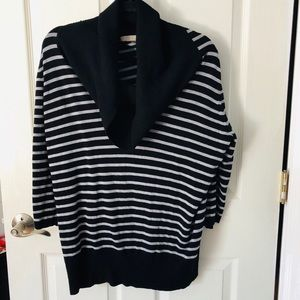 One A Plus size cowl neck sweater